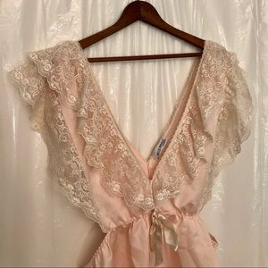 70s Vintage Lace Blossom Teddy